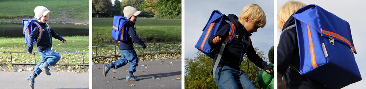 Der kundschafter®kubik schulranzen in blau ist mit 660 g Eigengewicht einer der leichtesten Schulranzen auf dem Markt.